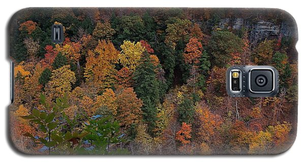 Galaxy S5 Case featuring the photograph Autumn Colors In Taughannock State Park Ithaca New York by Paul Ge
