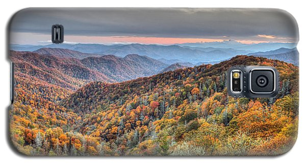 Autumn Colors On The Blue Ridge Parkway At Sunset Galaxy S5 Case