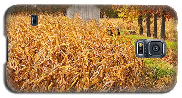 Galaxy S5 Case featuring the photograph Autumn Corn by Mary Carol Story