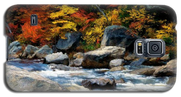 Galaxy S5 Case featuring the painting Autumn Creek by Bruce Nutting