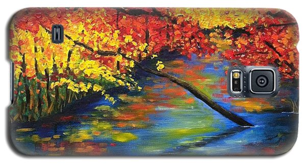 Autumn Crossing The River Galaxy S5 Case