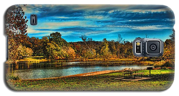 Autumn Day On The River Galaxy S5 Case