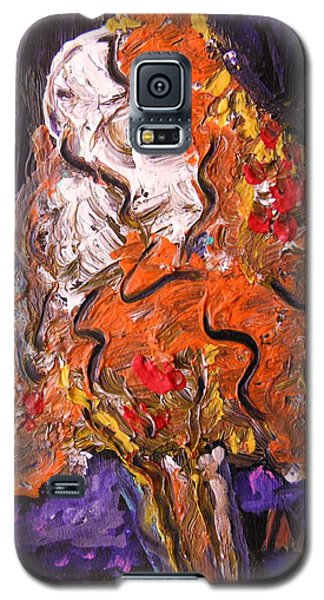Galaxy S5 Case featuring the painting Autumn Display by Mary Carol Williams