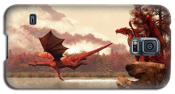 Dungeon Galaxy S5 Case - Autumn Dragons by Daniel Eskridge
