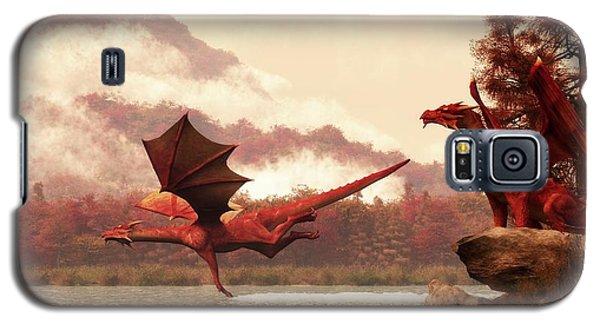 Dungeon Galaxy S5 Case - Autumn Dragons by Daniel Eskridge
