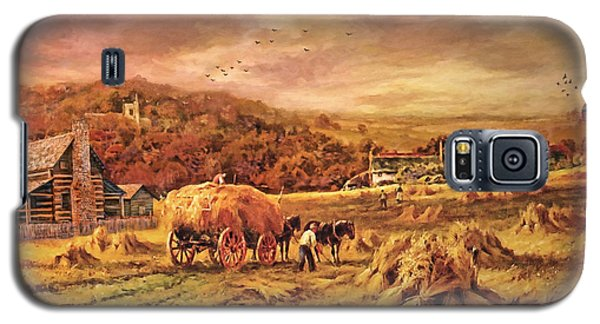 Autumn Folk Art - Haying Time Galaxy S5 Case