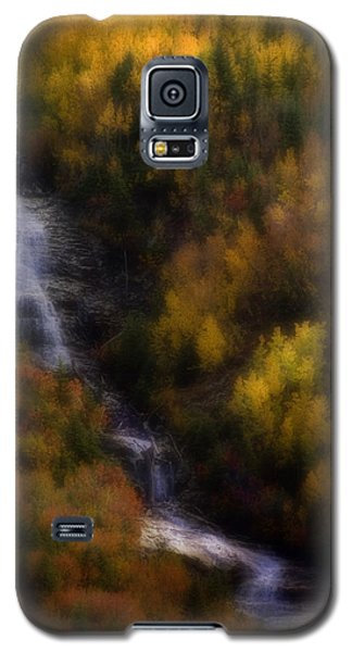 Galaxy S5 Case featuring the photograph Autumn Forest Falls by Ellen Heaverlo