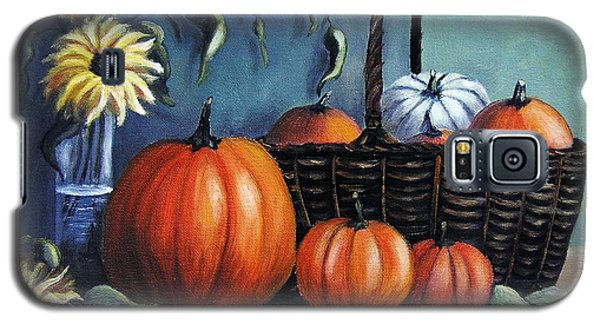 Galaxy S5 Case featuring the painting Autumn Gifts by Vesna Martinjak