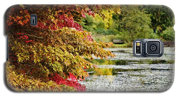 Galaxy S5 Case featuring the photograph Autumn Glory By The Pond by Maria Janicki