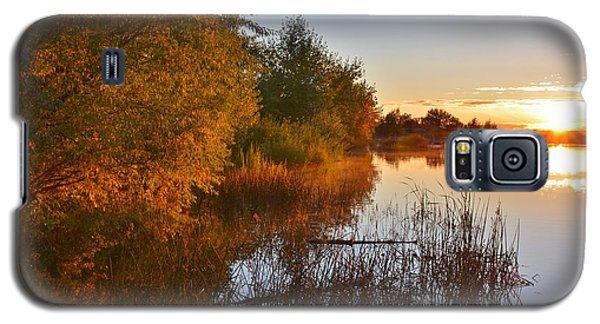 Autumn Glow At The Lake Galaxy S5 Case