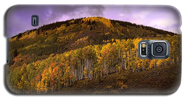 Galaxy S5 Case featuring the photograph Autumn Hillside by Ellen Heaverlo