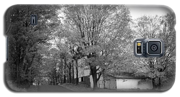 Galaxy S5 Case featuring the photograph Autumn In Black And White by Phil Abrams