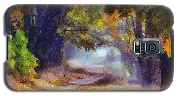 Galaxy S5 Case featuring the painting Autumn In Forest by Georgi Dimitrov