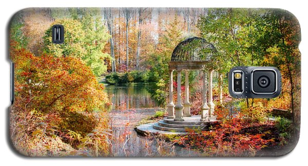 Autumn In Longwood Gardens Galaxy S5 Case by Trina  Ansel