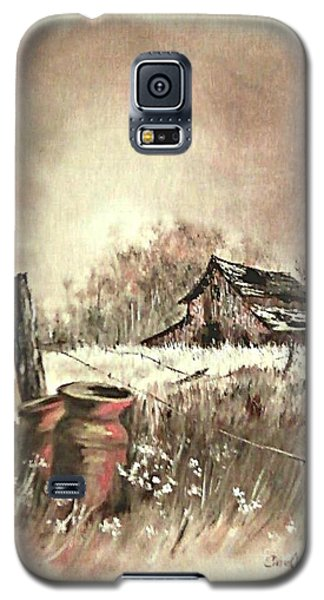 Galaxy S5 Case featuring the painting Autumn In View At Mac Gregors Barn by Carol Wisniewski