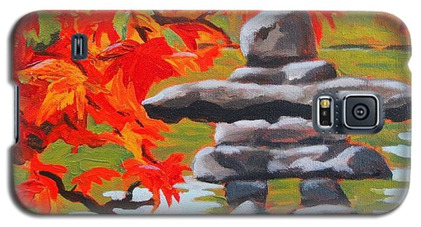 Autumn Inukshuk Galaxy S5 Case by Janet McDonald