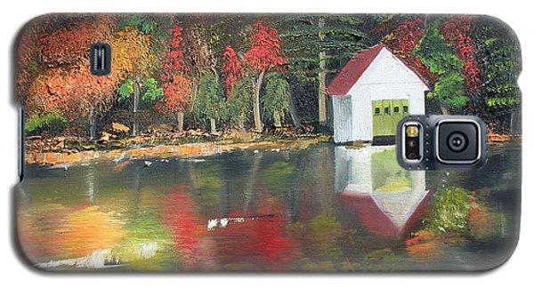 Autumn - Lake - Reflecton Galaxy S5 Case