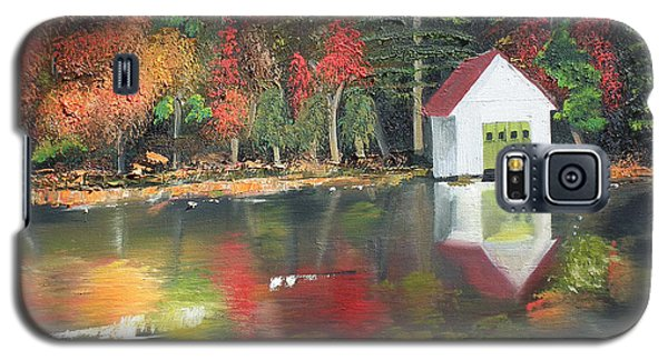 Autumn - Lake - Reflecton Galaxy S5 Case