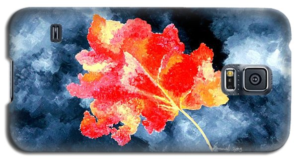 Galaxy S5 Case featuring the painting Autumn Leaf by Thomas Gronowski