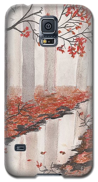Galaxy S5 Case featuring the pastel Autumn Leaves by David Jackson
