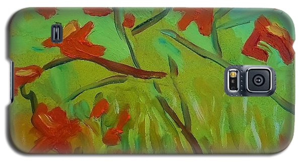 Galaxy S5 Case featuring the painting Autumn Leaves by Francine Frank