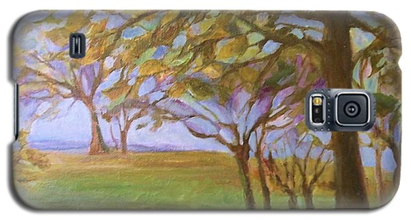 Galaxy S5 Case featuring the painting Autumn Leaves by Mary Wolf