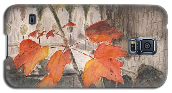Autumn Leaves On Belmont St Galaxy S5 Case