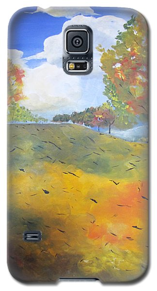 Galaxy S5 Case featuring the painting Autumn Leaves Panel 2 Of 2 by Gary Smith