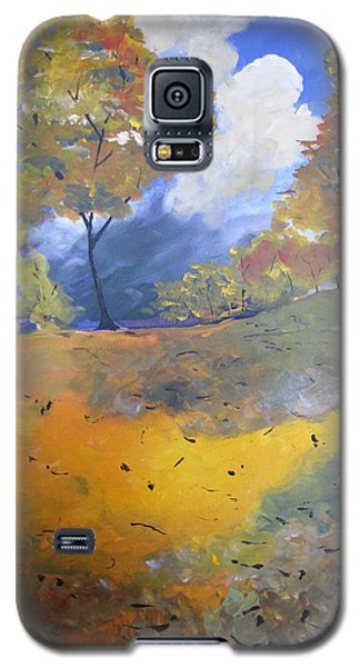 Galaxy S5 Case featuring the painting Autumn Leaves Panel1 Of 2 Panels by Gary Smith