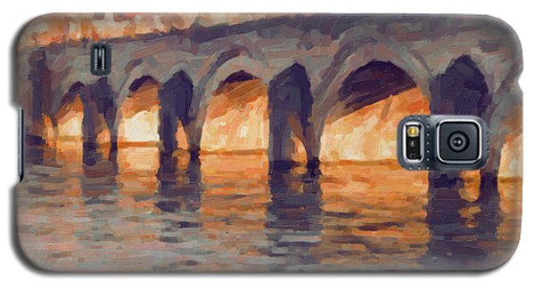 Autumn Light Through The Saint Servaas Bridge Maastricht Galaxy S5 Case