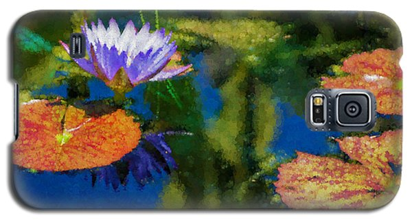 Autumn Lily Pad Impressions Galaxy S5 Case