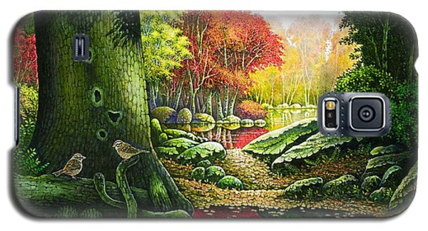 Autumn Morning In The Forest Galaxy S5 Case