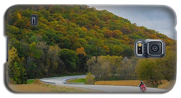 Autumn Motorcycle Rider / Orange Galaxy S5 Case