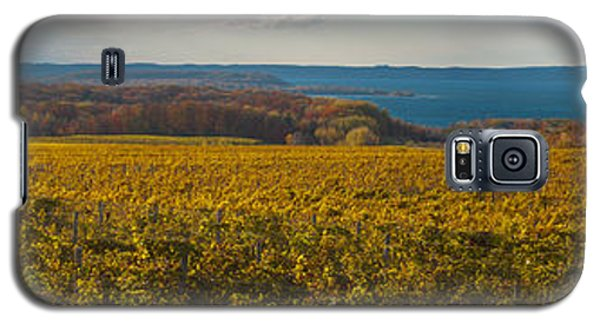 Autumn On Old Mission Peninsula Panoramic Galaxy S5 Case