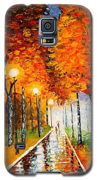 Autumn Park Night Lights Palette Knife Galaxy S5 Case by Georgeta  Blanaru