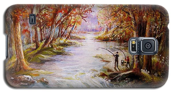 Galaxy S5 Case featuring the painting Autumn Peace by Patricia Schneider Mitchell