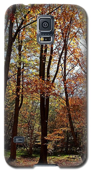 Galaxy S5 Case featuring the photograph Autumn Picnic by Debbie Oppermann