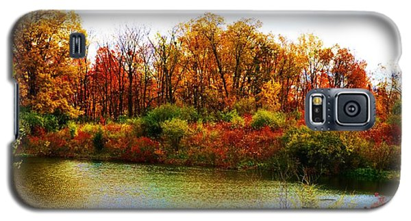 Galaxy S5 Case featuring the pyrography Autumn Pond by P Dwain Morris