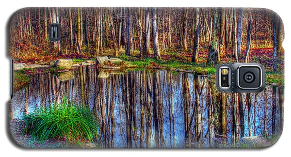 Autumn Pond Reflections Galaxy S5 Case
