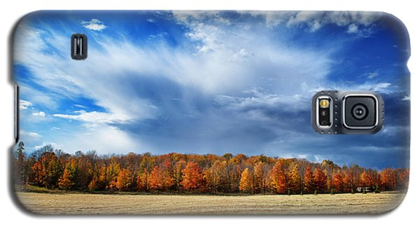 Galaxy S5 Case featuring the photograph Autumn Rain Over Door County by Mark David Zahn
