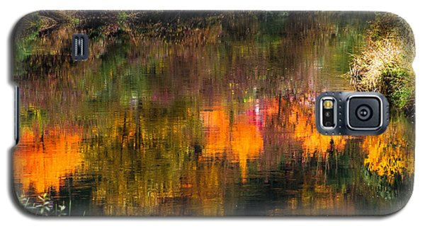 Galaxy S5 Case featuring the photograph Autumn Reflection by Crystal Hoeveler