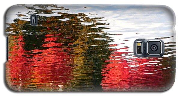 Galaxy S5 Case featuring the photograph Autumn Reflection In Elliot Bay by Karen Molenaar Terrell
