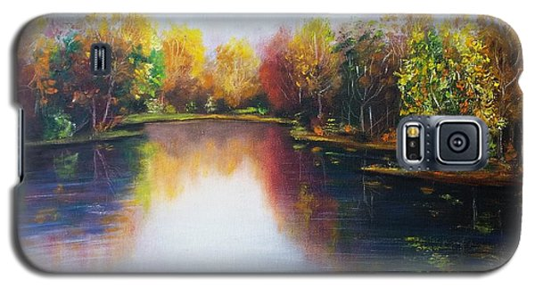Galaxy S5 Case featuring the painting Autumn Reflections  by Vesna Martinjak