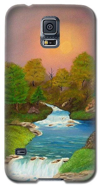 Galaxy S5 Case featuring the painting Autumn Retreat by Sheri Keith