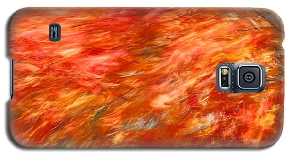 Galaxy S5 Case featuring the photograph Autumn River Of Flame by Jeff Folger
