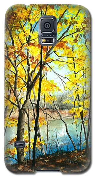 Autumn River Walk Galaxy S5 Case