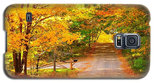 Galaxy S5 Case featuring the photograph Autumn Road Home by Terri Gostola