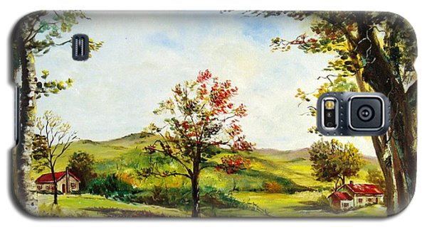 Galaxy S5 Case featuring the painting Autumn Road by Lee Piper