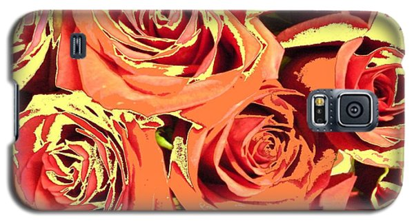 Galaxy S5 Case featuring the photograph Autumn Roses On Your Wall by Joseph Baril