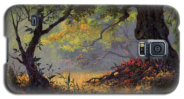 Galaxy S5 Case featuring the painting Autumn Shade by Michael Humphries